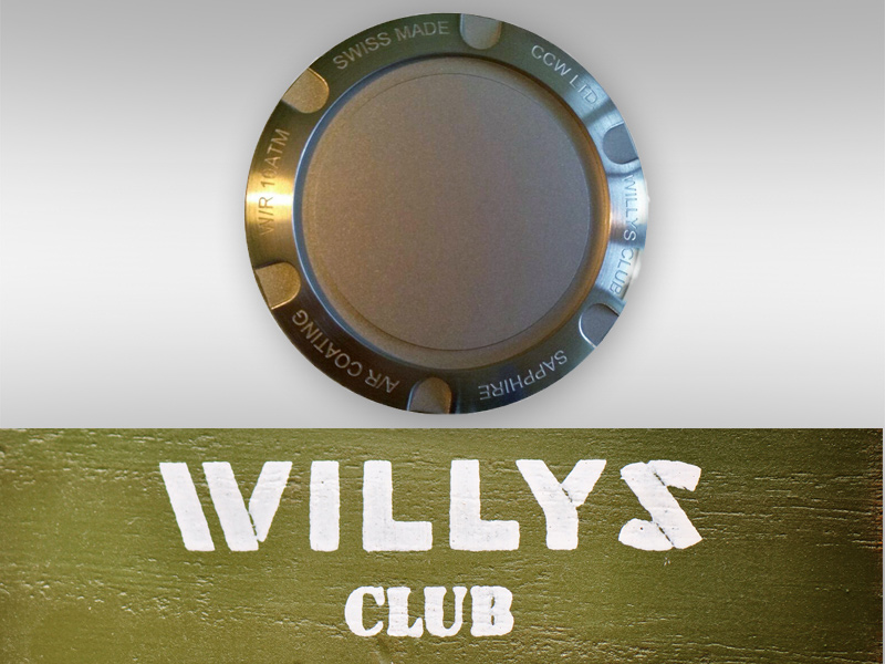 Gift back cover for Willys Club Watches